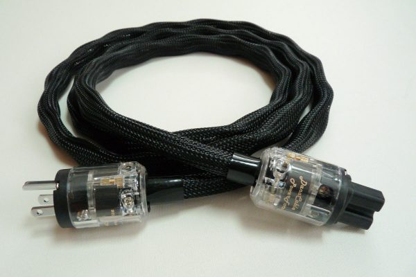 Power Force cord for amps and high-current components, in black sheathing