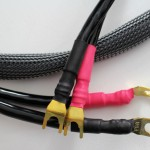 Sapphire Mk.2 speaker cable, in graphite sheathing, with spade connectors