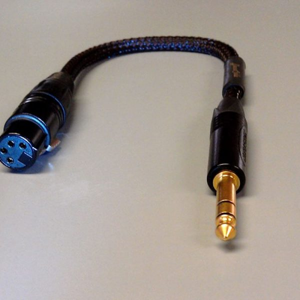 4-Pin XLR to 1/4 inch adapter for Lazuli cables