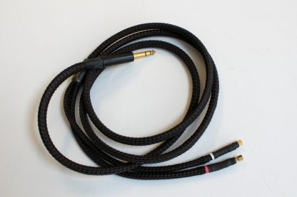 2-meter Lazuli cable for Hifiman's older HE series with SMC screw-on connectors, 1/4-inch plug