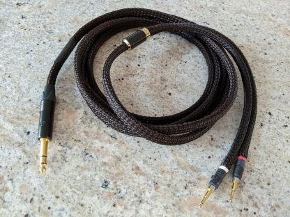 3-meter Lazuli Reference cable for HifiMan headphones, with 1/4-inch plug